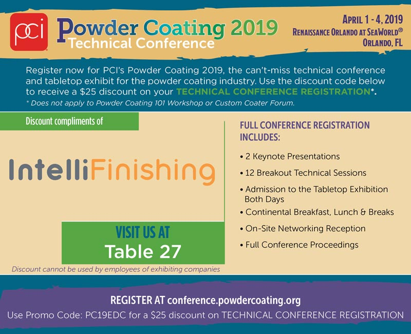 Powder Coating Technical Conference Discount Code