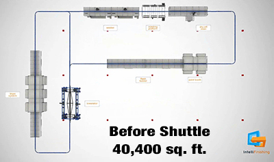 Layout Before Space Saving Shuttle