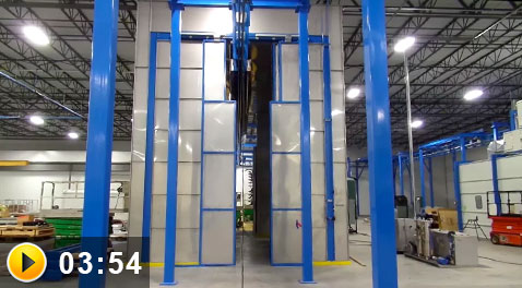 complete powder coating system construction site tour